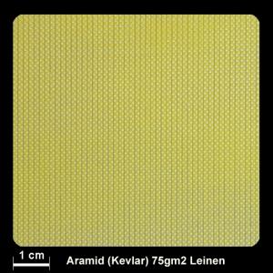 Aramidgewebe 220  75g/m² Leinw.100cm