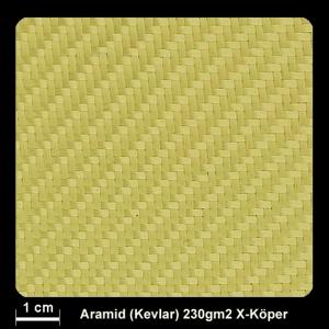 Aramidgewebe 335 230g/m² X-Köper 3/1 100cm