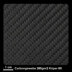 Carbongewebe 428 285g/m² Köper 100cm