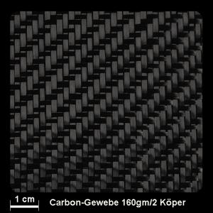 Carbongewebe Ind.   160g/m² Köper 100cm