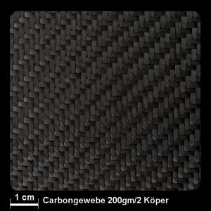 Carbongewebe Ind.   200 g/m² Köper 100cm