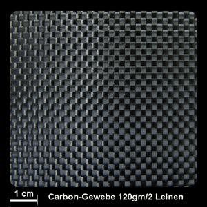 Carbongewebe 490 120g/m² Leinwand 100cm