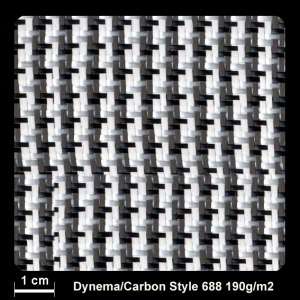 Dyneema-Carbon   190g/m² Köper 100cm