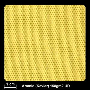 Aramidgewebe 160 158g UD-Lein 100cm