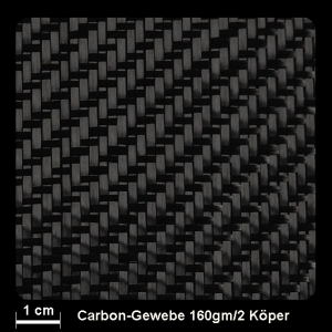 Carbongewebe 442 160g/m² Köper 100cm