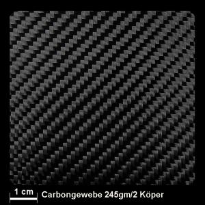 Carbongewebe 462 245g/m² Köper 150cm