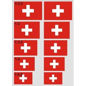 Schweizerkreuz selbstklebend Bogen A4 / 10 Stück