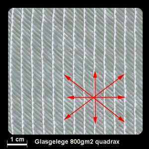 Glasgelege quadrax 800g 127cm, per m