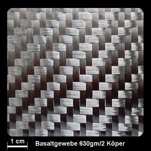 Basalt Gewebe 630g/m² Köper 127cm