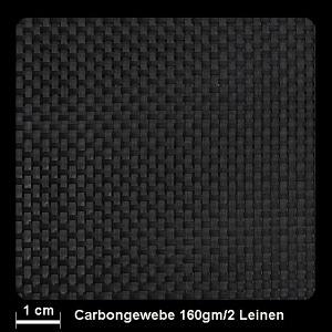 Carbongewebe Ind.   160g/m² Leinw 100cm