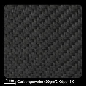 Carbongewebe 6K 402 400g/m² Köper 127cm