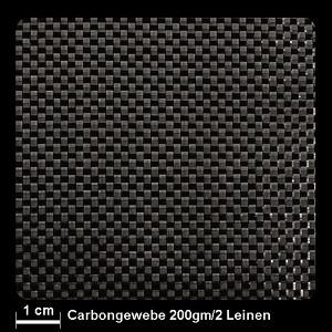 Carbongewebe 450 200g/m² Leinw.100cm