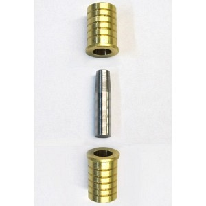 SCS Passdübel 3-Teilig Messing/Stahldorn rostfrei